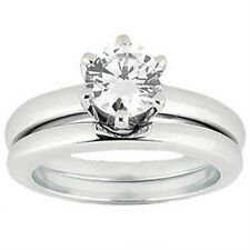 1.12 ct. Tw Diamond Solitaire Bridal Set in Platinum