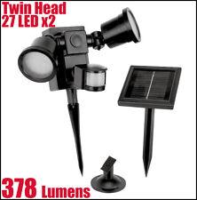 Solar Twin Head 378 Lumens 54 LEDs Motion Sensor Light