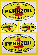 CLASSIC Car Rally / RACE PENNZOIL Adesivo Set 2 grandi 2 piccoli GLOSS stratificato