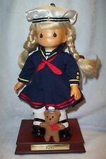 Precious Moments Carved Wood Face Sailor Navy Doll Rene Limited Edition 980/1000