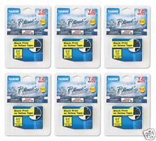 Brother TZ641 PTouch Label Tape P-Touch TZ-641 (6) PACK