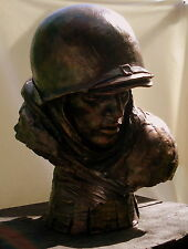 "Original Unique Bronze Monumental Memorial ""Soldier""  Anatoly Mikhailov Signed"