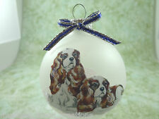 D004 Hand-made Christmas Ornament dog Cavalier King Charles Spaniel - 2 Blenheim