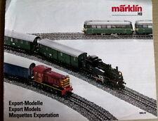 Catalogo MARKLIN Export Modelle 1986-87 - DEU ENG FRA -  [TR.25]