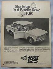 1968 Fiat 125 Saloon Original advert