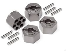 HPI 105470 ALUMINUM HEX HUB SET GUNMETAL Mini Trophy