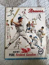Vintage 1962 Milwaukee Braves Official Scorecard