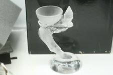 """Sevres Cristal stunning 6 1/2"""" crystal CLOWN CANDLE HOLDER MINT"""