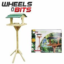 GARDEN WOODEN BIRD TABLE TRADITIONAL FEEDER HOUSE FEEDING STATION FREE STANDING