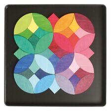Magnetpuzzle Magnetspiel Legespiel Kreise 40 Teile Metallbox Holz NEU