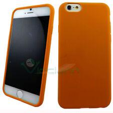 PELLICOLA+Custodia silicone ARANCIONE per iPhone 6 6S cover morbida gel nuova