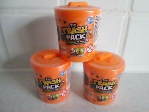 3 x Brand New Mint In Box The Trash Pack Collectable figures 2 in each pack