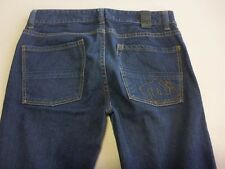 046 WOMENS NWOT DC SHOES SKINNY FIT DK BLUE WASH STRETCH JEANS 30 REG $120 RRP.