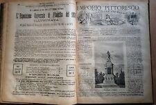 L'EMPORIO PITTORESCO. ILLUSTRAZIONE UNIVERSALE ED. SONZOGNO ANNO 1876