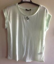BNWT Ladies Mint Green Roll Sleeve T-Shirt from New Look Petite size 10