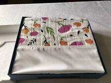 "Little Unicorn Cotton Muslin Flat Panel 52 X 28 12"" Drop Crib Skirt Floral Print"
