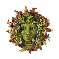 "Design Toscano 8½"" Hand Painted The Somerset Greenwoman Wall Sculpture"