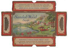 India vintage PATANWALA SANDALWOOD TOILET SOAP box
