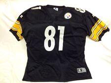 TROY EDWARDS PITTSBURGH STEELERS #81 NFL FOOTBALL JERSEY 2XL Size 54 Starter