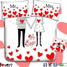 Completo Lenzuola Stampa Digitale Matrimoniale Maestri Cotonieri Lovers
