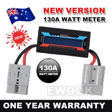 130A Watt Meter Power Analyzer Digital LCD Solar Volt Amp Anderson Style Plug AU
