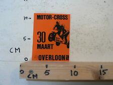STICKER,DECAL OVERLOON MOTOR-CROSS 30 MAART KAMP. ZIJSPANNEN SIDECAR MX CROSS A