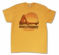 Rod Stewart Hot Legs Tour 2014 Vancouver Ac Yellow T Shirt New Official