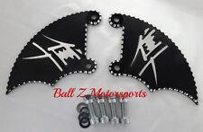 99-02-05-07 Hayabusa Black/Silver 3D Ball Cut LH & RH Front Brake Caliper Covers