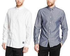 JACK & JONES Men's Collared Long Sleeve Slim Casual Shirts & Tops
