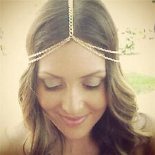 Women Fashion Rhinestone Head Chain Jewelry Headband Head Piece Hair Band