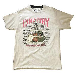 Vtg Country Music Branson Missouri MO Omni Lipco 1993 Mens Size Large Tee Shirt