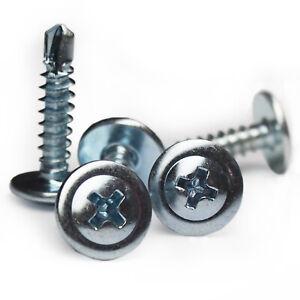 Blechschrauben Bohrschraube Linsenkopf mit Bund selbstbohrend Ø 4,2 - 4,8 mm