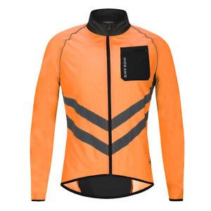 High Visibility Cycling Jersey Sleeveless Jacket Wind Vest Reflective Bike Gilet