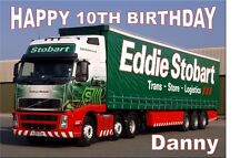 PERSONALISED EDDIE STOBART A4 TRIFOLD BIRTHDAY CARD occasion greeting ANYdetails