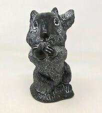 VTG Canada Aardik Art Carved Soapstone Squirrel with Nut Figurine Sculpture TT20