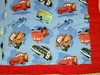 "Cars Movie Children's Handmade Quilt Blanket 35"" by 43"" Child Sized Throw Mater"