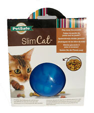 Petsafe Slim Cat Treat Ball Dispenser Blue Fun Play Exercise Kitten Play