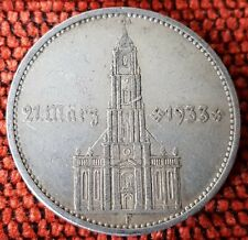 Germany Nazi 5 Reichsmark Postdam Church 1934 F .900 Silver Lot 4F