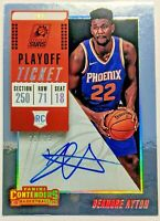 DeAndre Ayton 2018-19 Contenders Playoff Ticket Silver Rookie Auto /65 Suns RC🔥