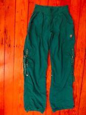 Zumba Brand Medium Cargo Pants Snaps To Convert To Capris Green Dance baggy fit