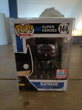 Funko Pop Black Chrome BATMAN #144 NYCC 2017 Fall Convention  IN PROTECTOR