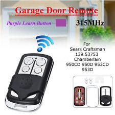 4 Button 315MHz Garage Door Remote Control For Sears Craftsman 139.53753 HBW2028