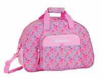 BENETTON Butterflies Pink Travel Holdall Bag Duffel Holiday Overnight bag 48cm