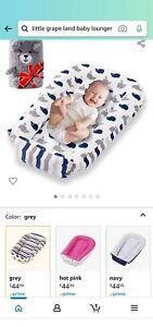 Little Grape Land reversible bassinet baby lounger bed