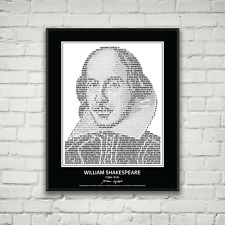 William Shakespeare Poster in his own words. Image made of Shakespeare Quotes!