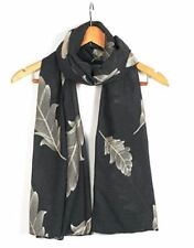 Ladies Women's Classy Gold Embroidered Feather Scarf Maxi Wrap Shawl Pashmina