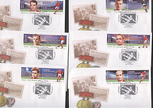 Football - Soccer WC 2018 Legends 14 FDC  (2 set of stamps)  - ALL 12 Sities