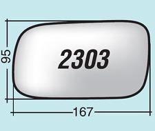 Vetro specchio retrovisore Subaru Impreza dal 2003 al 2007 sinistro 2303S