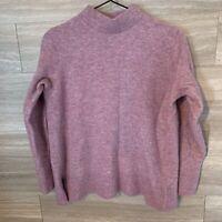 Banana Republic Women's Sz L Mockneck Sweater Aire Pink Purple