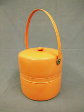 Nähkasten Nähbox Nähkorb orange 60er 70s 70er Design vintage Panton Ära Era